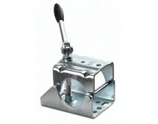 Collier avec poignée pivotante pour roue jockey 60 mm