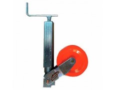 Roue jockey carrée renforcée 70 mm avec galet acier