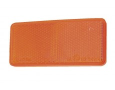 Catadioptre rectangle autocollant ORANGE - X2 PIECES