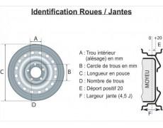 Roue 145 X 13 - 4 trous 115