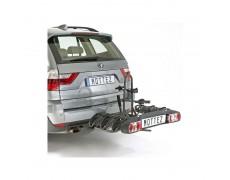 Porte-vélos attelage Pliable et rabattable 3 vélos