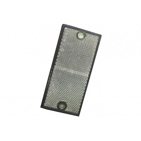 Catadioptre rectangle BLANC à visser - X2 PIECES
