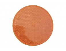 Catadioptre rond ORANGE autocollant - X2 PIECES
