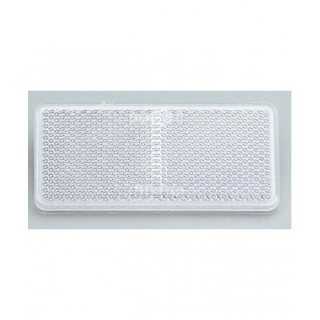 Catadioptre rectangle autocollant BLANC - X2 PIECES
