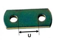 Plaquette 2 trous 60 mm