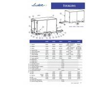 PLAQUE POUR ATTELAGE FOURGON LIDER 35930