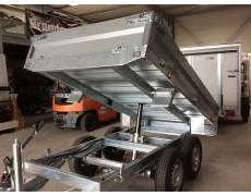 remorque benne lider 2500 kg pompe manuelle