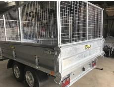 REMORQUE TRI-BENNE TRI310 avec rehausses grillages 2700 kg