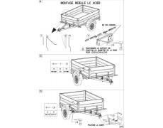 Supports roues de secours pour remorques