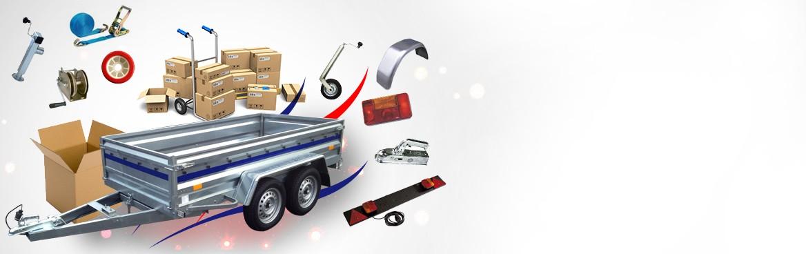 Pièces détachées et accessoires toutes marques pour votre remorque